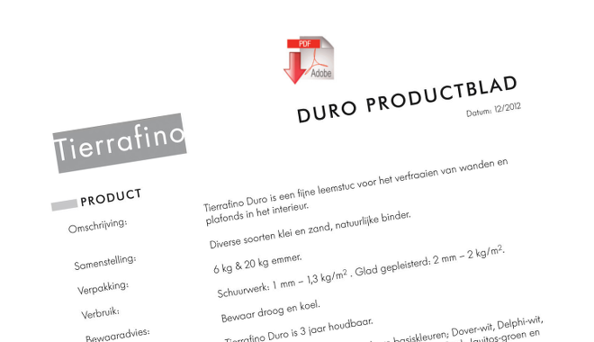 Product sheet Duro Clay Plaster